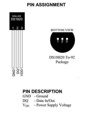Pinagem DS18B20