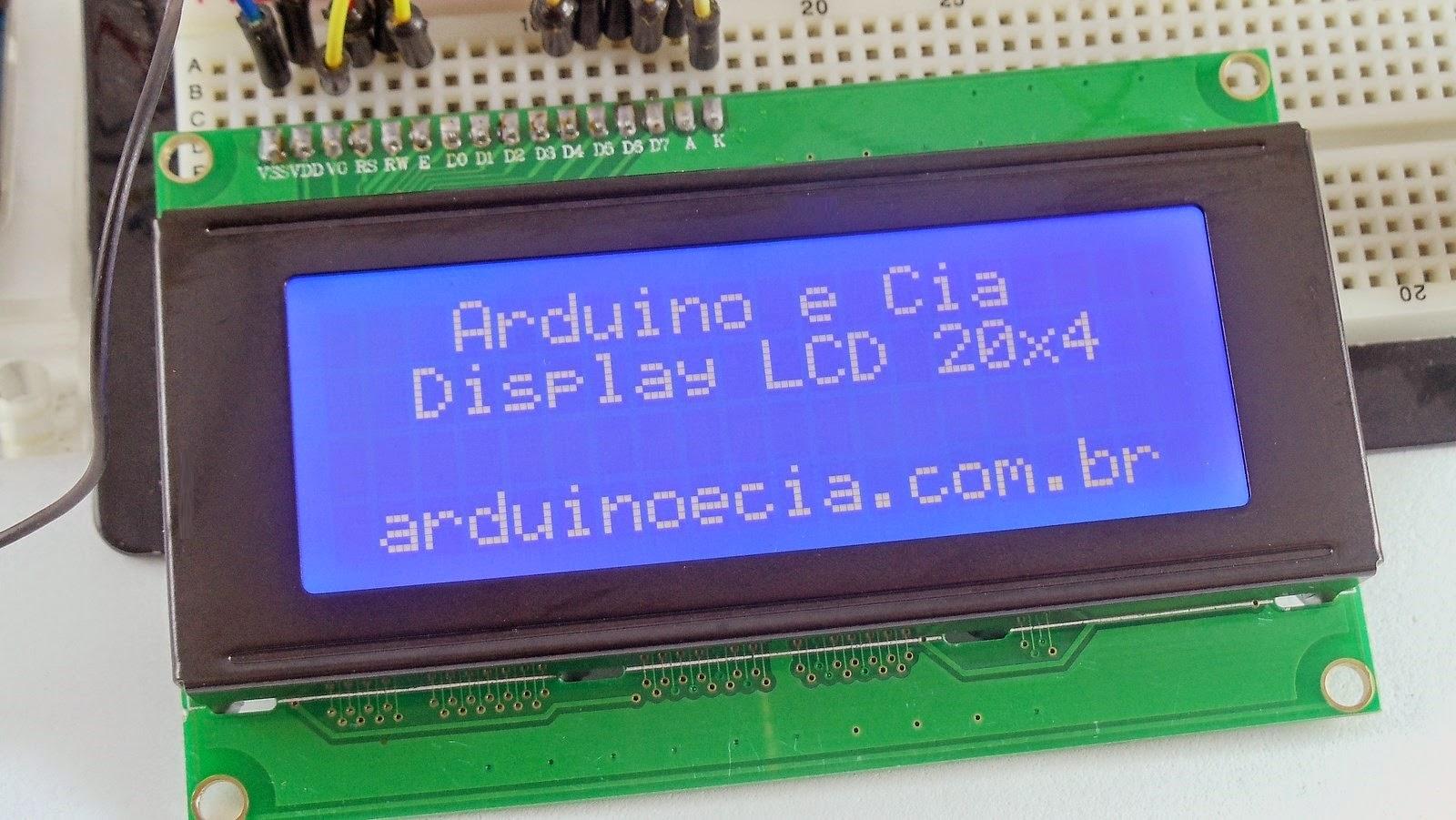 Como usar display LCD 20x4 com Arduino   Arduino e Cia