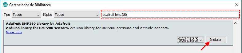 Use o BMP280 para medir temperatura, pressão e altitude