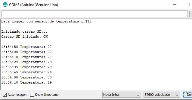 Como importar dados do Data logger em uma planilha | Arduino