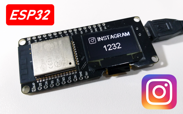 Contador de seguidores do Instagram com ESP32 | Arduino e Cia