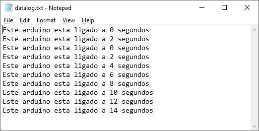 datalog.txt Arduino